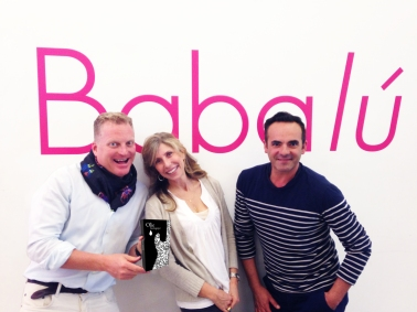 Greg of Babalu Miami (left) with Linda Alixe Thompson Creator and Founder of Olie Biologique (centre) and Paolo of Babalu Miami Left)