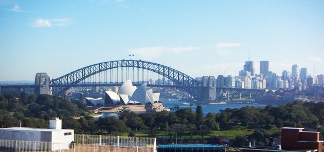 Sydney Opera House and Sydney Bridges seen from Potts Point