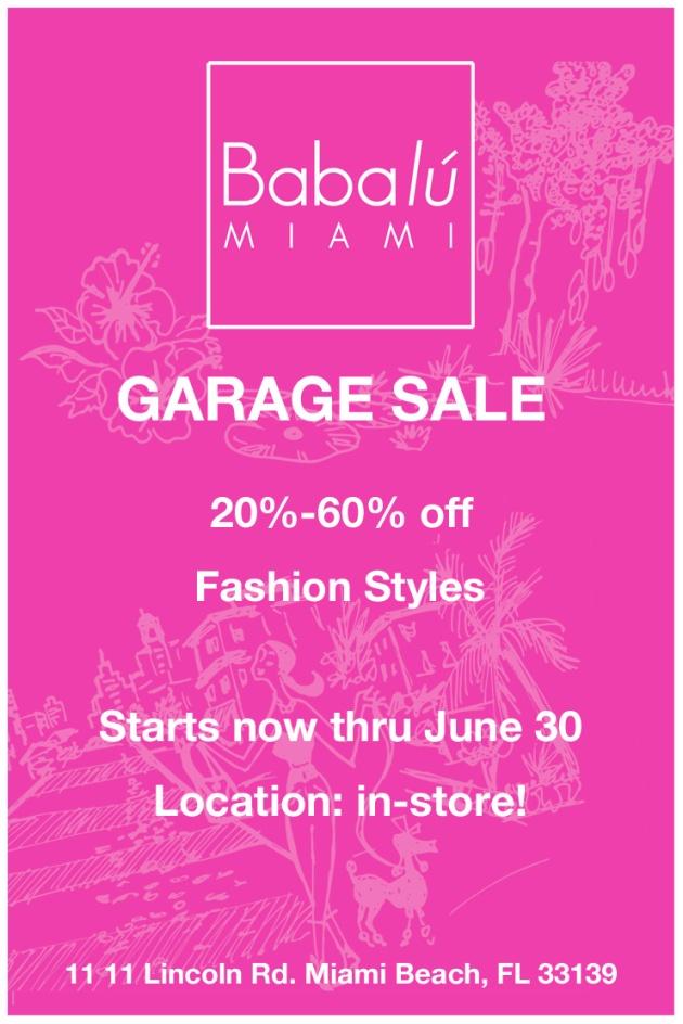 #babalumiami #garagesale