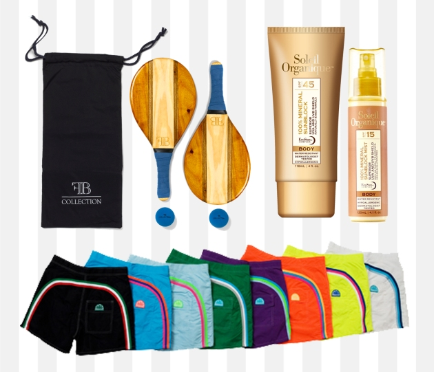 The FB Frescobol set includes: two paddles, two balls and nylon carrying bag.